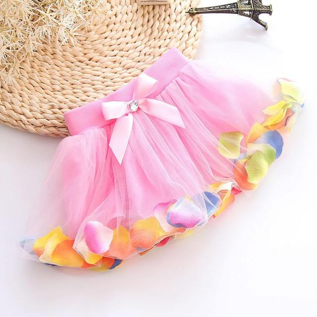 ef1681136e3dd US $1.35 20% OFF|2019 New Fashion Cute Pretty Baby girl Princess Bust skirt  Flower Colorful Lace Summer kids clothes children clothing-in Skirts from  ...