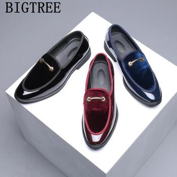 Zapatos De Vestir De charol para Hombre, calzado Formal, Oxford, Social, Masculino