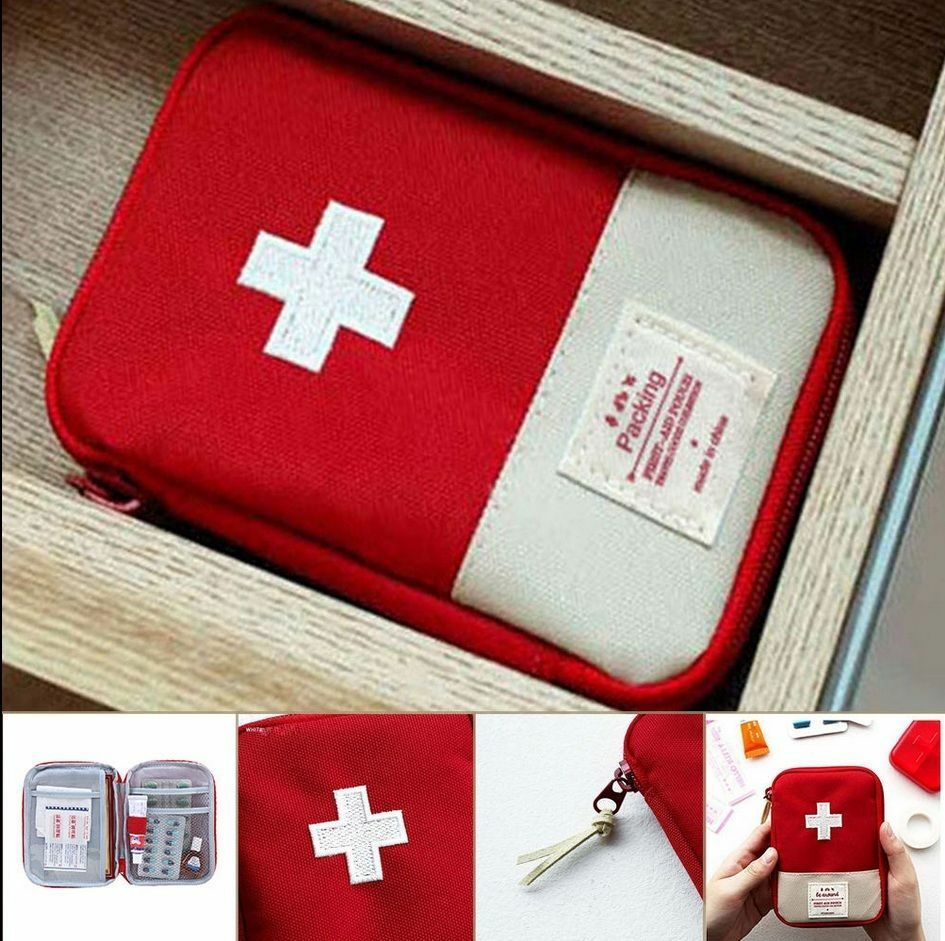 Mini Emergency Survival First Aid Kit Pack Travel Medical Sports Bag Case Pouch Storage Bags in Storage Bags from Home Garden