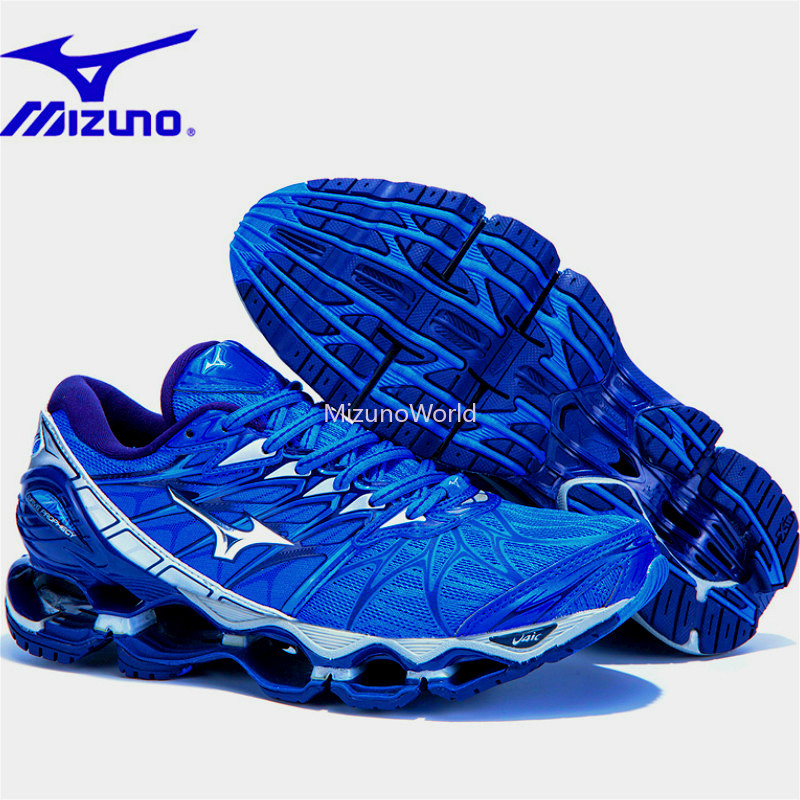 16a8cd5396 MIZUNO WAVE Prophecy 5 Professional Men Running Shoes Royal blue sneakers  Weight lifting Shoes basketball shoes Size 40-45