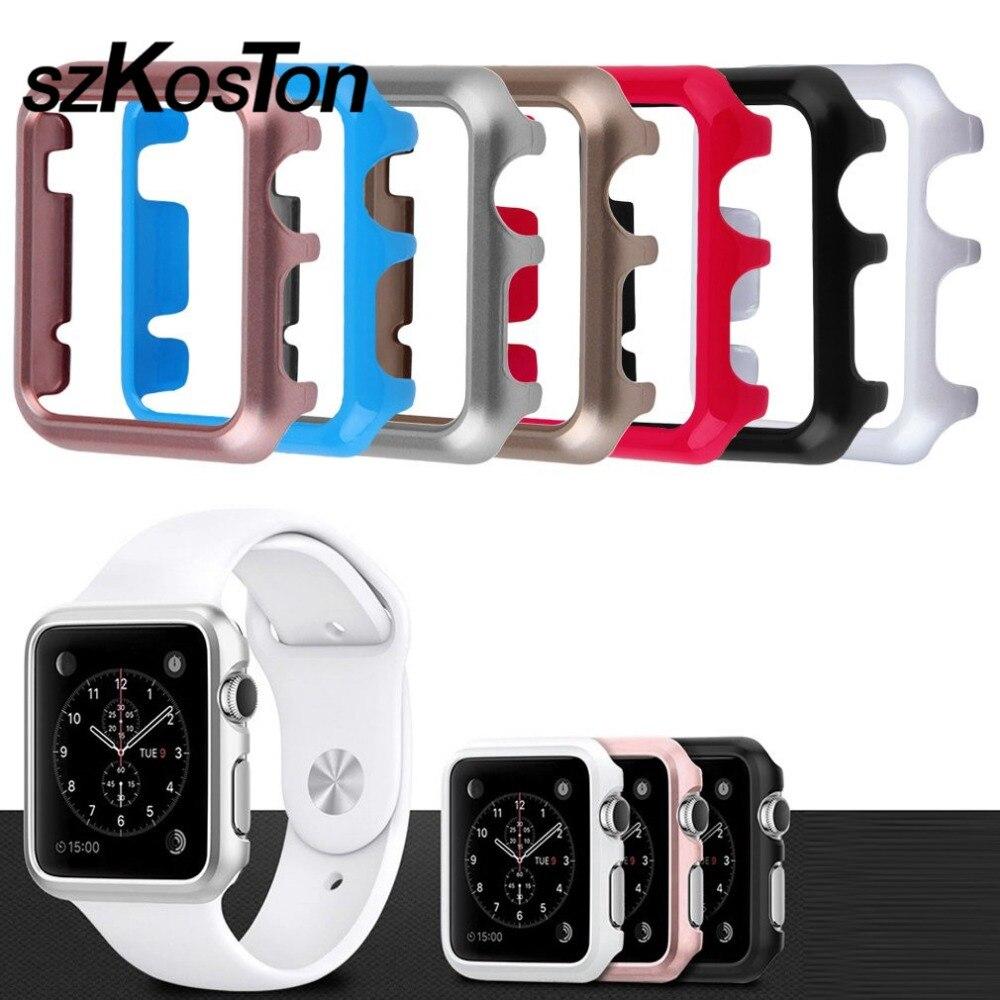 Новые Панцири случае 38 мм прозрачный тонкий жесткий оснастки крышка Рамки против царапин противоударный протектор кожи для Apple часы