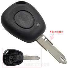 Remote Control Car Key Case Shell For Renault Megane Scenic Laguna Espace Clio 1 Button Uncut NE73 Blade Replacement Car Cover(China)