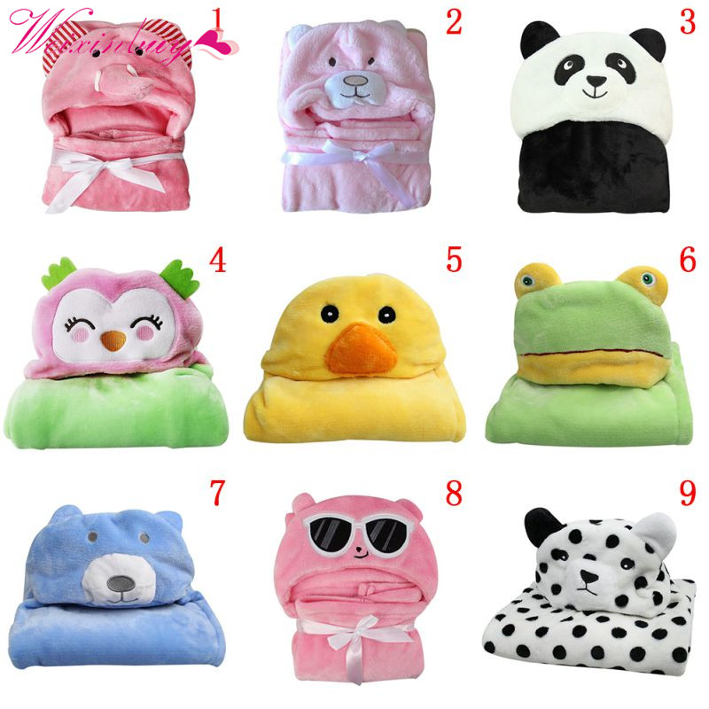 Soft Baby Blankets 2018 Baby Kids Bath Towels Animal Shape Hooded Towel Lovely Baby Bath Towel Baby Swaddle Wrap Hooded Bathrobe