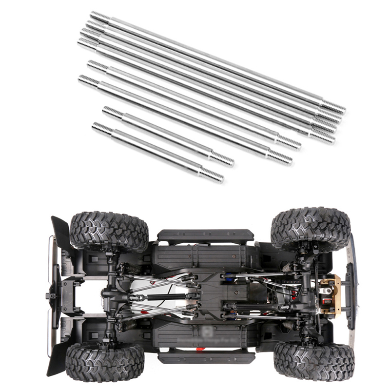 8pcs Chassis Stainless Steel Link Kit For TRX4 Blazer SPORT 313mm Series #GAX0133S RC Crawler Car Upgrade Accessories