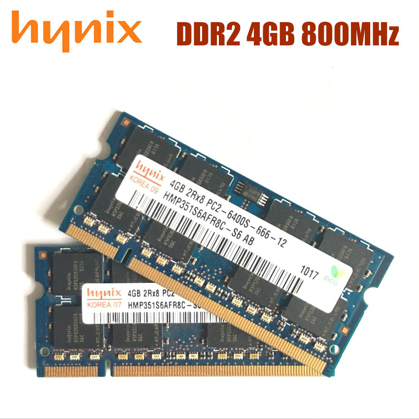 Hynix chipset Laptop memory 4GB PC2 6400 DDR2 800MHz Notebook RAM 4G 800 6400S 4G 200