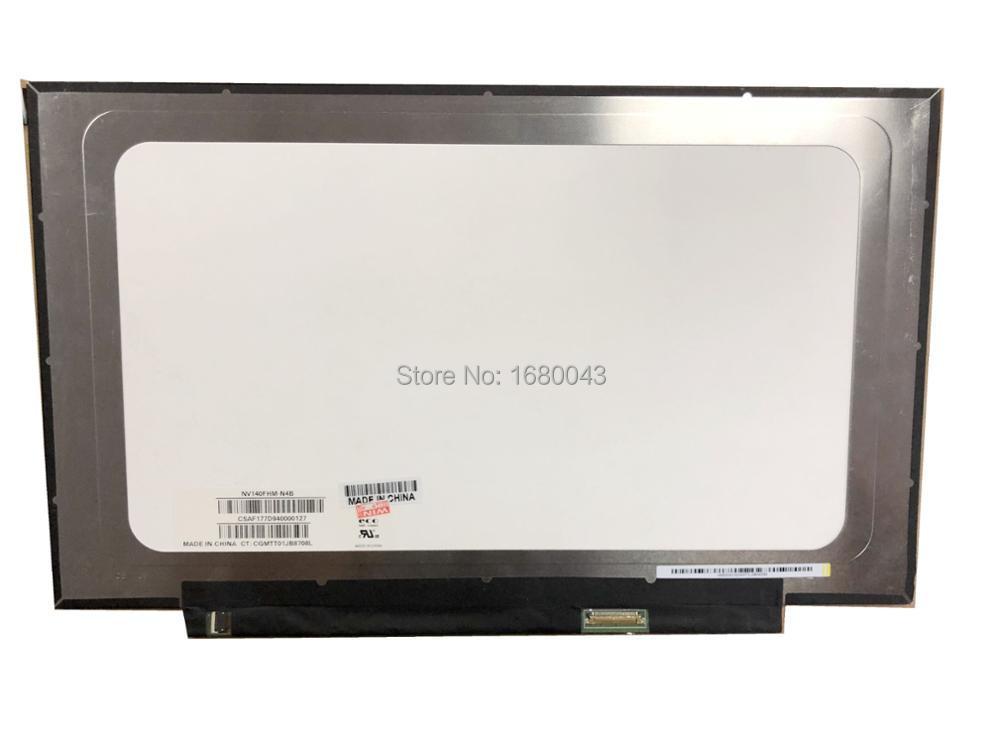 NV140FHM-N4B fit NV140FHM-N62 N61 N3B N47 N4C LP140WF7 SPC1 N140HCA-EBA LCD LED Screen 1920*1080 30 PIN NEW IPS saniter notebook lcd screen nv140fhm n62 n61 n3b lp140wf7 spc1 n140hca eba 14 inch laptop screen
