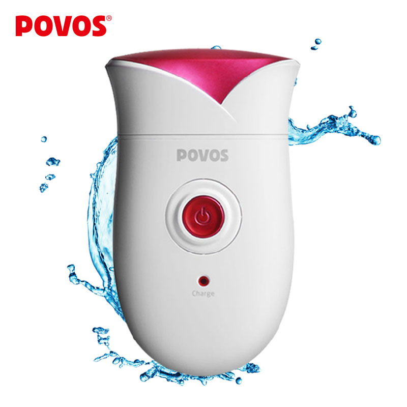 POVOS Fully Washable Single Blade Reciprocating Lady s Body Hair Electric Shaver Epilator Rechargeable PS1088 PW318