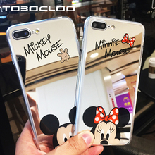 Tobocloo Cute Cartoon for iPhone 7 8 plus 5 5s SE Case Minnie Mirror Silicone Cases for iPhone X 6 6s Plus TPU Mickey Mouse Case