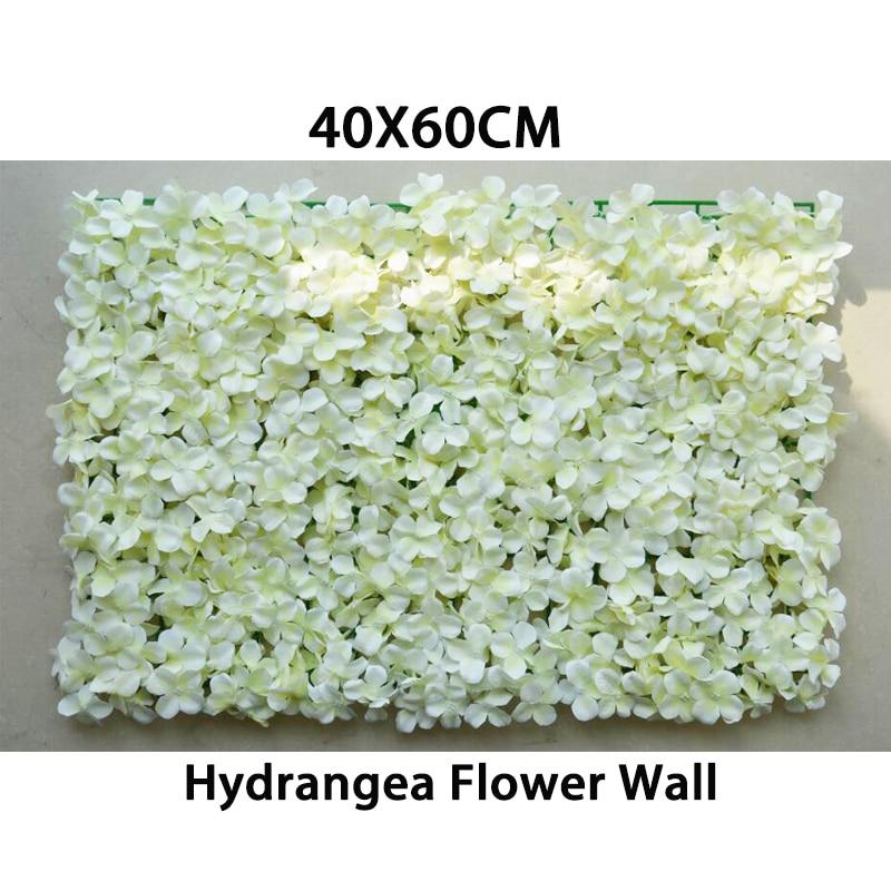 40x60cm 인공 수국 실크 플라워 벽 장식 연회 장식 꽃 웨딩 댄스 의상 배경 벽