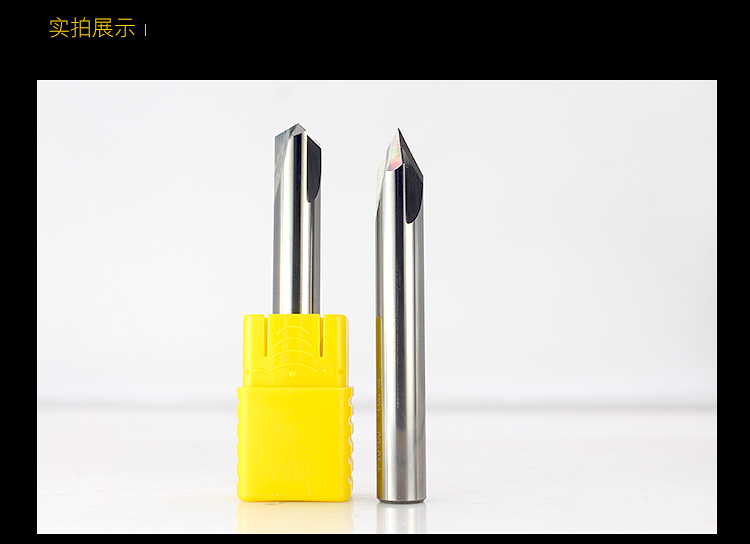 Image 5 - Free shipping 1PCS,CNC tungsten carbide aluminum and steel Chamfer milling cutter,30&45&60 degree tialn coated 3 flutes end mill-in Milling Cutter from Tools