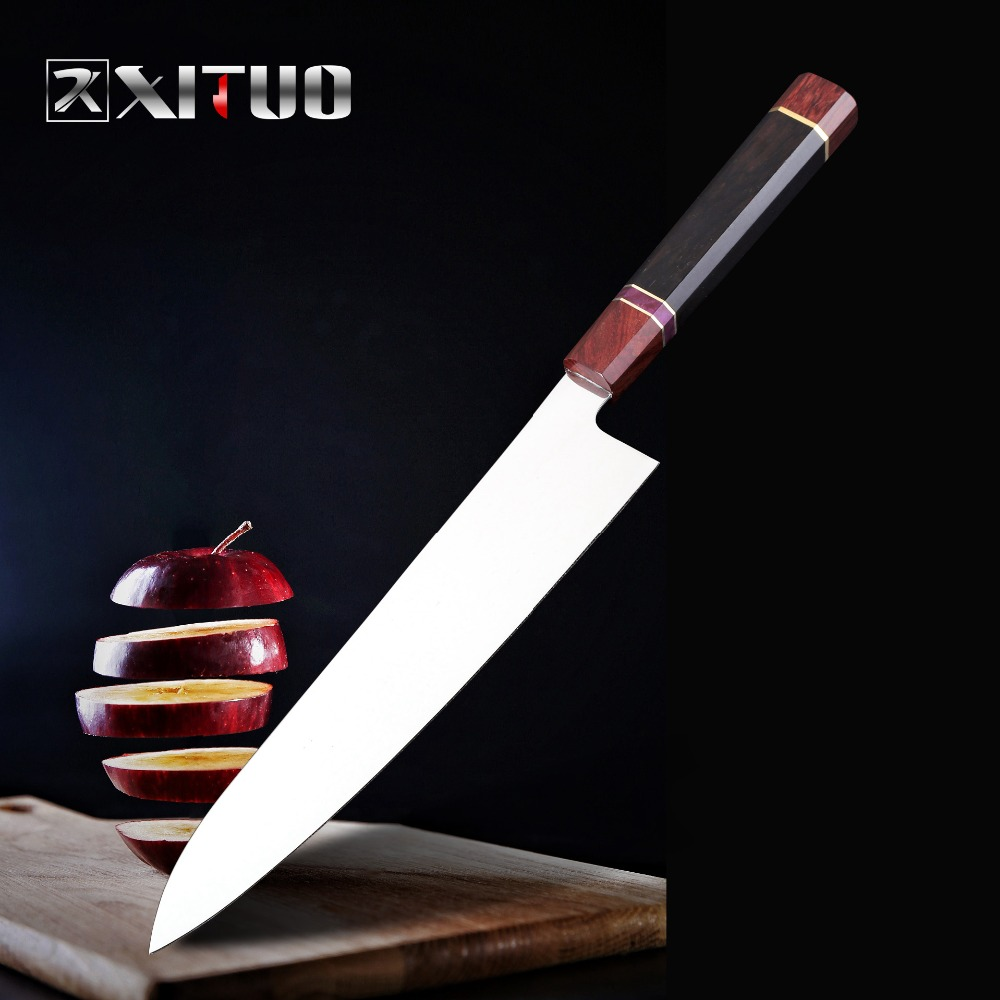 XITUO 9 Inch Japanese Kitchen Knife vg10 High Carbon Stainless Steel Chef Slicing Knife Fish Bread