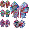 50 BLESSING Girl 4 5 Two Tone Cheer Hair Bow Clip Rainbow Unicorn Pony Hairbow