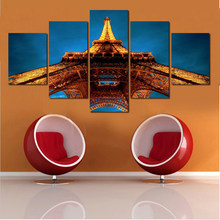 5 Pcs Set Artist Canvas Still Life Painting Pagoda And Sky Canvas Prints  Wall Pictures For Living Room Picture Home Decor Gift 220f8c19d3a0