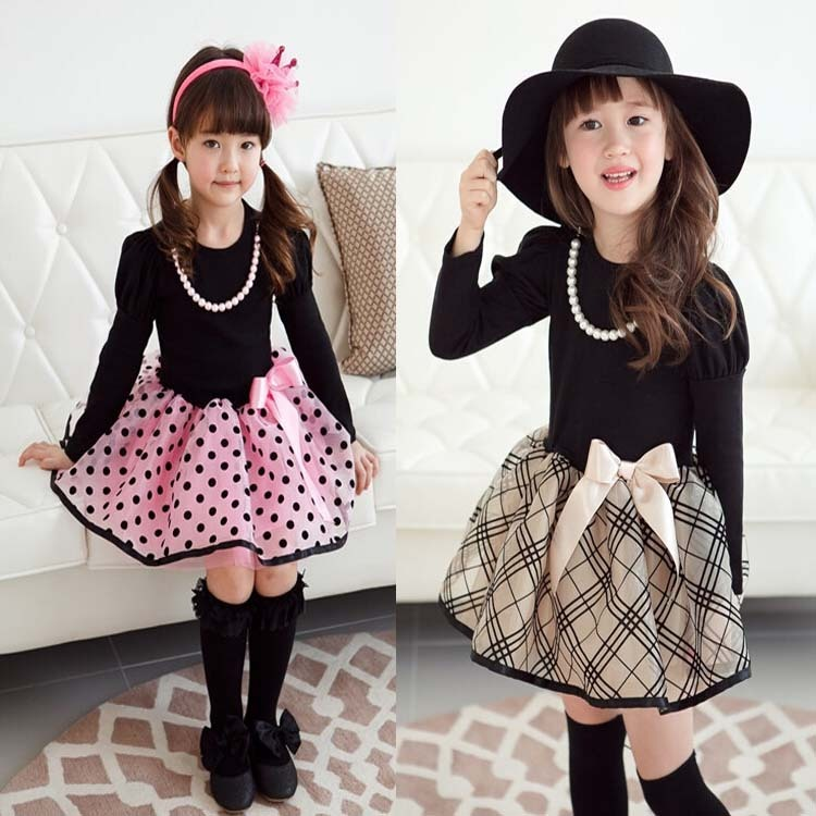 2016 new arrival Christmas Baby Girls Princess long sleeve Polka Dot Plaid Party Fancy Dress girl's clothes 95% new for haier refrigerator computer board circuit board 0064001287 driver board good working