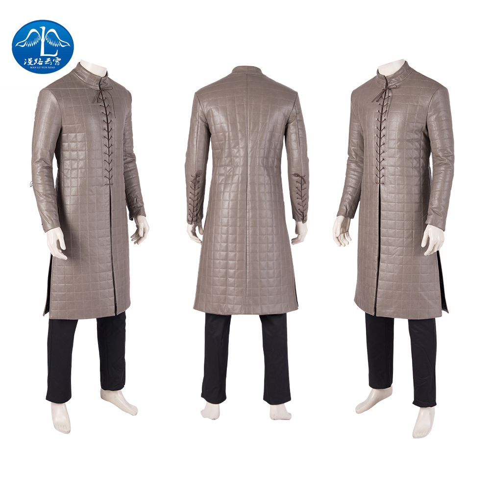 Manluyunxiao Game of Thrones Flocking Cloak Cosplay Costumes Jon Snow Outfit with Coat Halloween Clothing Ault Men in Movie TV costumes from Novelty Special Use