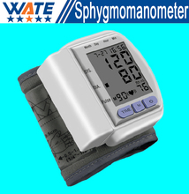 Health Care Portable Digital LCD Wrist Blood Pressure Monitor Pulse meter Tonometer + Heart Beat Meter