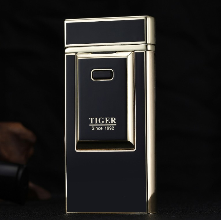 T lighter 900 windproof ultra thin metal pulse charge usb lighter electronic cigarette lighter