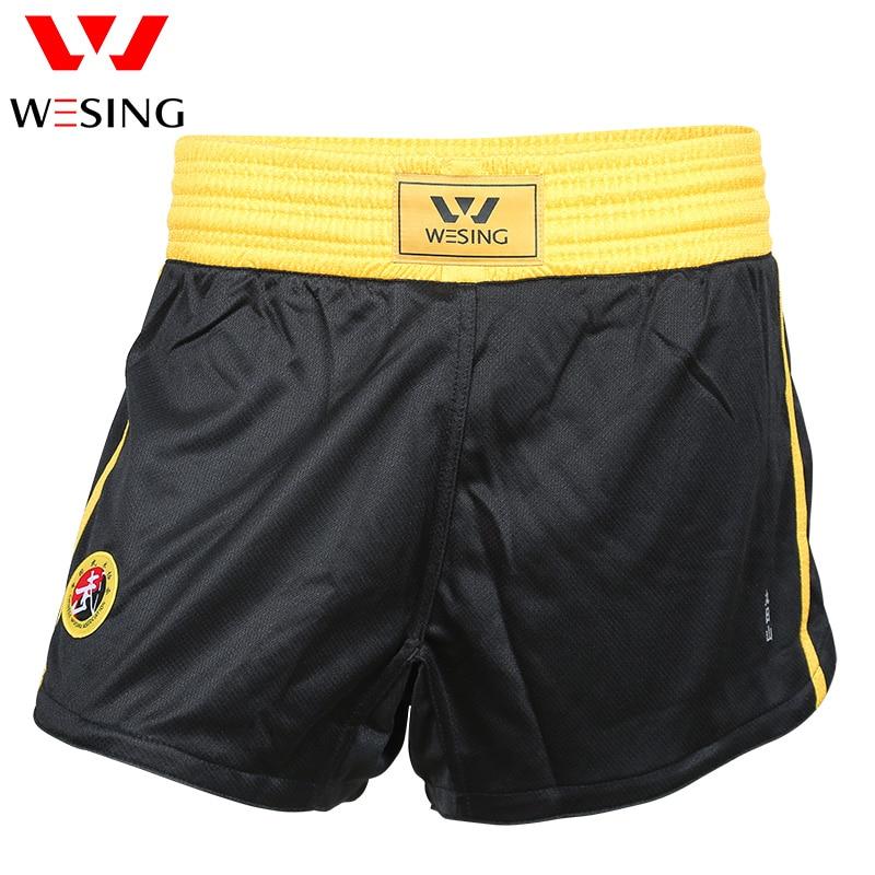 Wesing Kids Volwassenen Sanda Wushu Mma Boksen Muay Thai Shorts Vechtsporten Sparring Trunks Concurrentie Training Boxer Fightwear Gediversifieerd In Verpakkingen