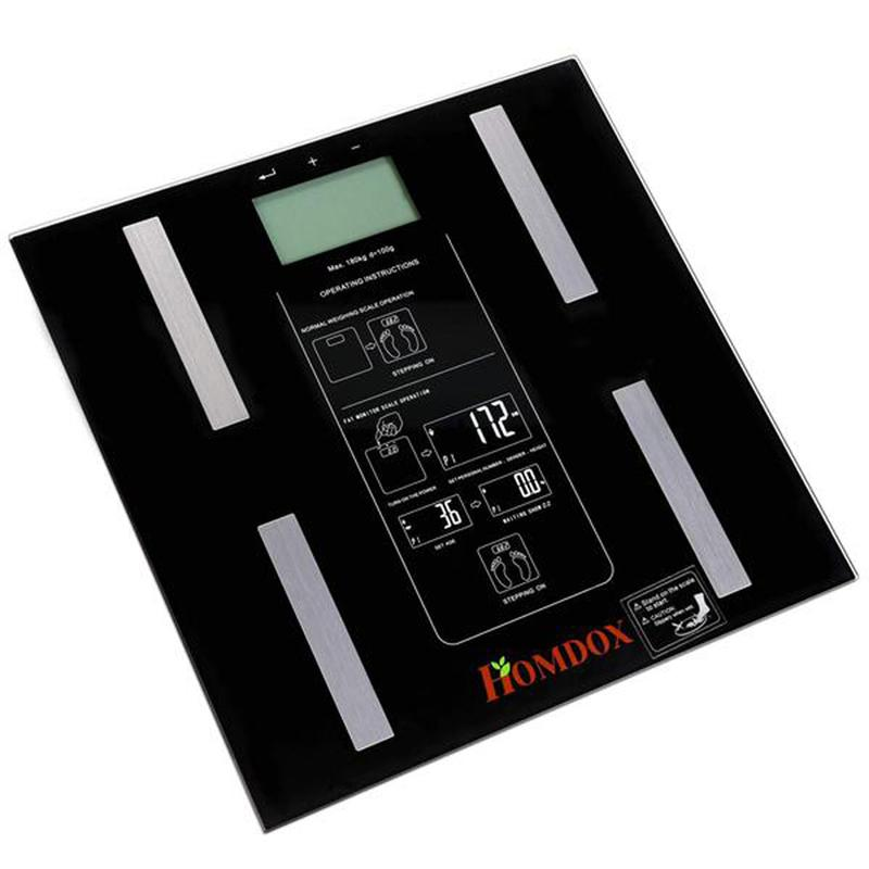 LUOEM Digital Body Weight Measurement Backlight Body Fat Scale Balance Scale (Black)