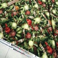 1 متر الببغاوات أشجار عيد الميلاد المطبوعة النسيج 100% ٪ مصمم النسيج نوعية جيدة خياطة اللحف القماش 43