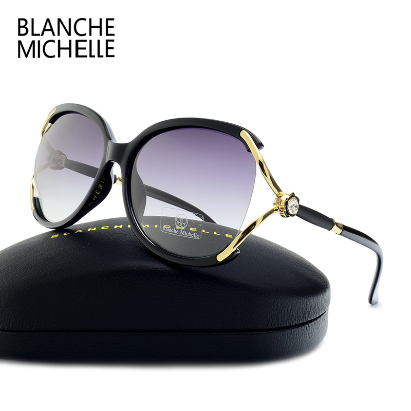 New Fashion Oversized Butterfly Sunglasses Women Polarized UV400 Brand Designer 2017 high quality sun glasses for women With Box