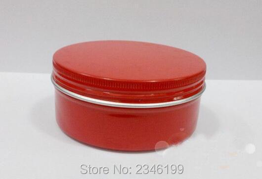 150 กรัม 150 มิลลิลิตรขวดครีม, กระป๋องอลูมิเนียมที่มีสีแดง, ปริมาณขนาดใหญ่ที่มีฝาเกลียวเครื่องสำอางดูแลผิวครีมขวด, 20 ชิ้น / ล็อต