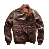 Read Description! Asian size air force flight A1 pilot leather cowhide jacket high quality genuine cow leather A1 jacket M6228