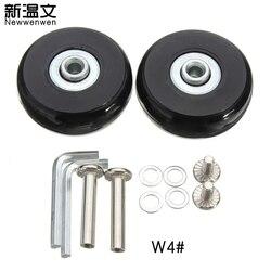 استبدال العجلات الأمتعة ، الأمتعة عجلات المحاور ديلوكس إصلاح استبدال 50*18 ملليمتر W4 #
