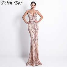 2019 Sexy Stretch Gold Sequin Maxi Dress Hollow Out Floor Length Summer Party Dress Padded V Neck Backless Mermaid Dress цена