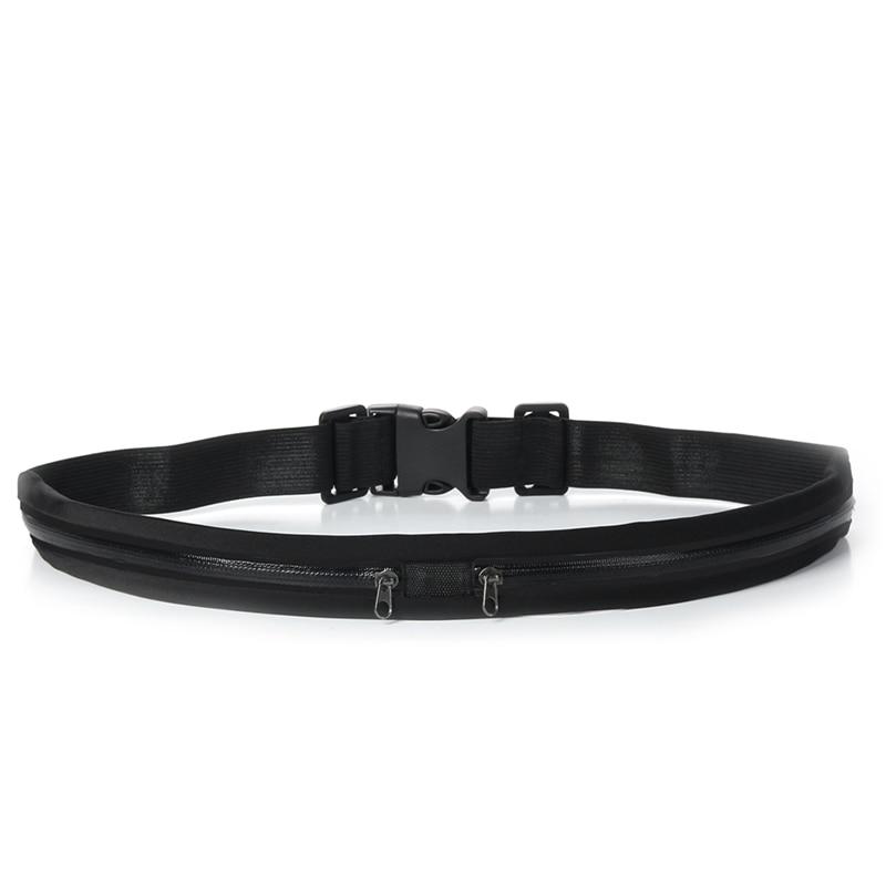 Waist Bag Double Pocket Bag Waterproof Phone Belt Personal Purse Waist Pack Man/ Women Unisex High Qualityt Fashion Casual Bag 0