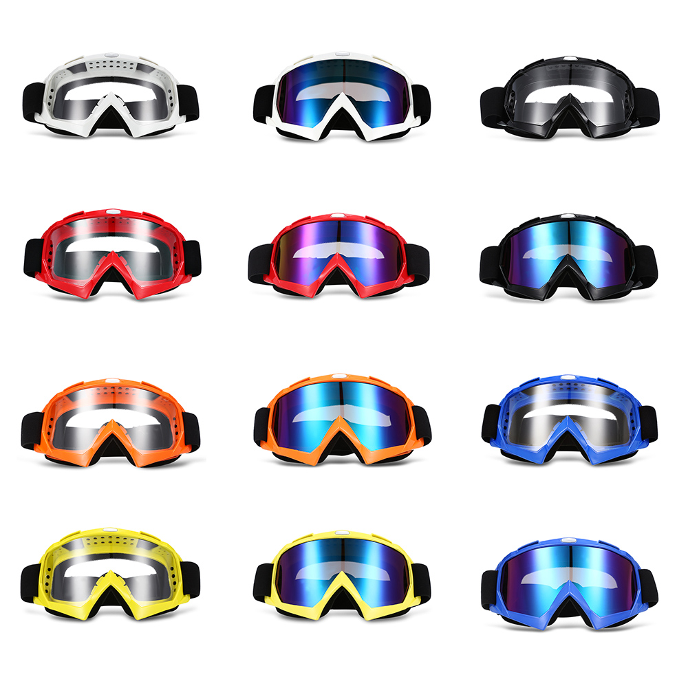 Fashionable Design X400 Motorcycle Goggles for Motocross Skiing Outdoor Riding with Colorful transparent lens Unisex
