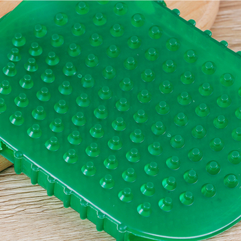 1pcs Silicone Gel Exfoliation Shower Bath Brush For Body Cleaning Scrub Gloves Anti Cellulite Massager Tools Back Bath Glove Spa 2