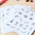 Creative PVC stickers Photo mini decoration Sticker Black and white patterns child DIY toy 8sheets/set
