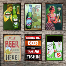 Beer Vintage Metal Tin Sign Chic Home Bar Cafe Wall Decor Art Pub Tavern Retro Decorative Plates Poster 1001(273)