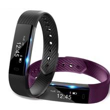 Оптовая продажа ID115 Смарт Спорт Браслет фитнес часы трекер сна монитор браслет Вибрационный будильник SmartBand