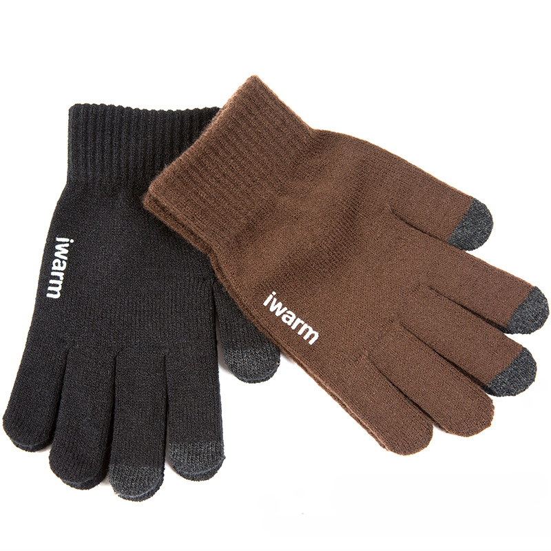 Knitted Gloves Women/Men Thicken Winter Warm Glove Touch Screen Gloves Male Warm Wool Cashmere Gloves Winter Men Mitten Unisex