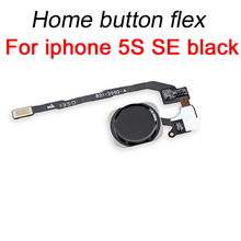 YKaiserin Original For iPhone 5S SE Home Button Flex Cable with Fingerprint Touch ID Sensor Assembly Phone Repair Parts Black
