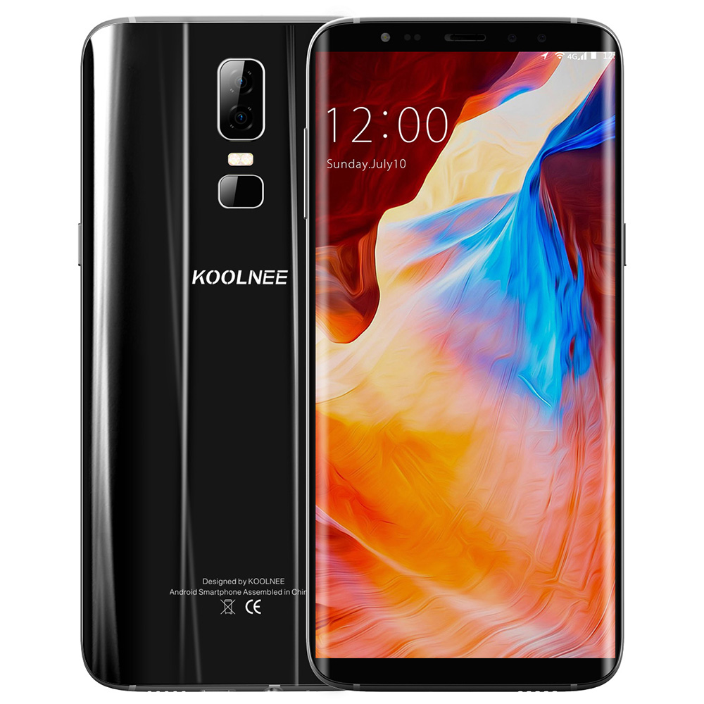 KOOLNEE K1 6.01'' 4D Curved Full Screen 16MP Android 7.0 Octa Core 4GB+64GB MTK6750T Dual Rear Cams Fingerprint 4G Mobile Phone