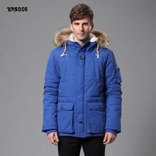 2016 new winter jacket parka Men's nylon taslon fashion classic coat big size Fit Hooded fake fur