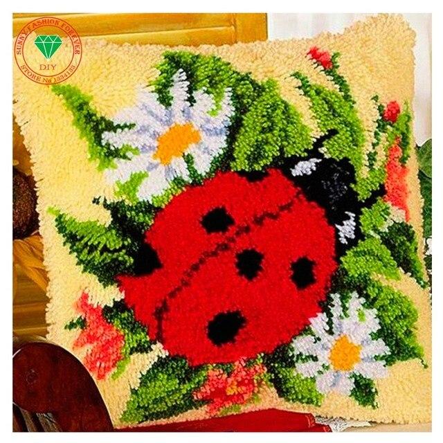 comprar flores mariquita costura de On alfombras de esmirna