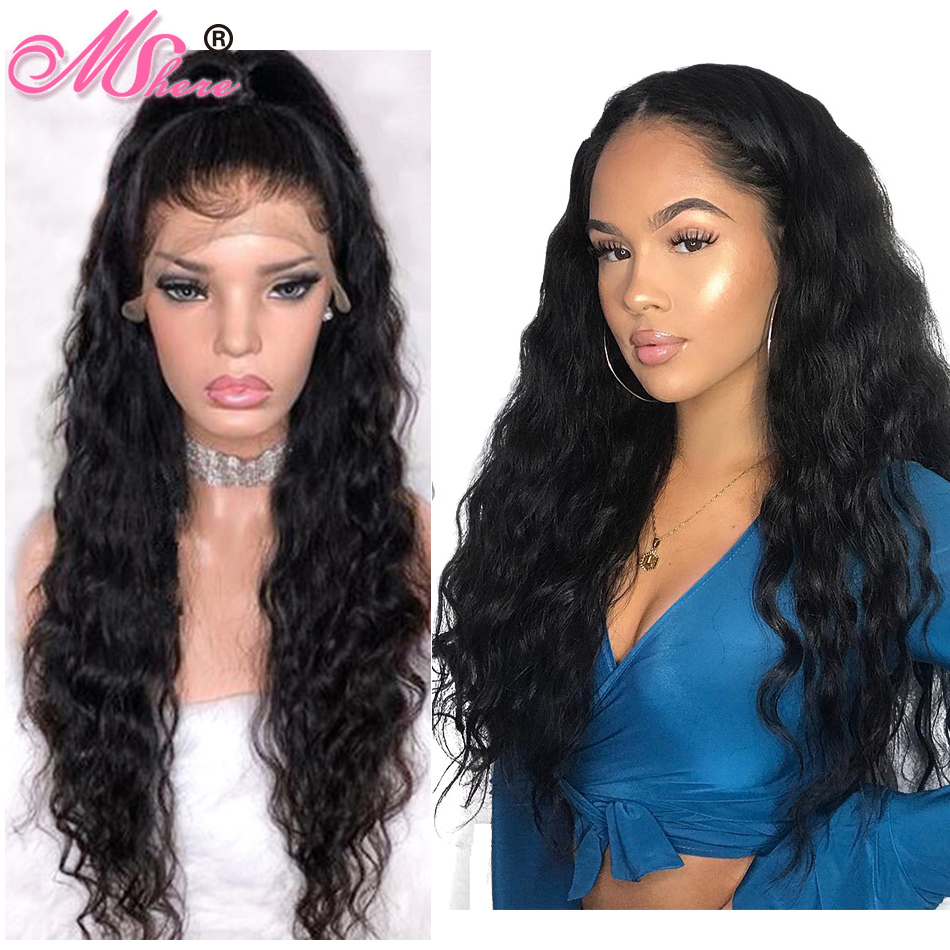 Lace Front Human Hair Wigs Brazilian Water Wave Wig 150 Human Hair Wigs For Women Lace