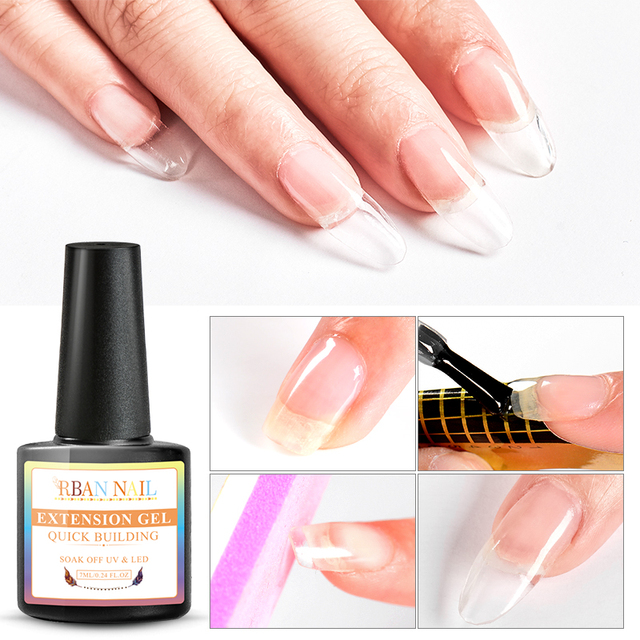 RBAN NAIL 7ml Quick Extension Poly UV Gel Clear White Pink Crystal LED Acrylic Builder Tips Gel Nail Art Gel