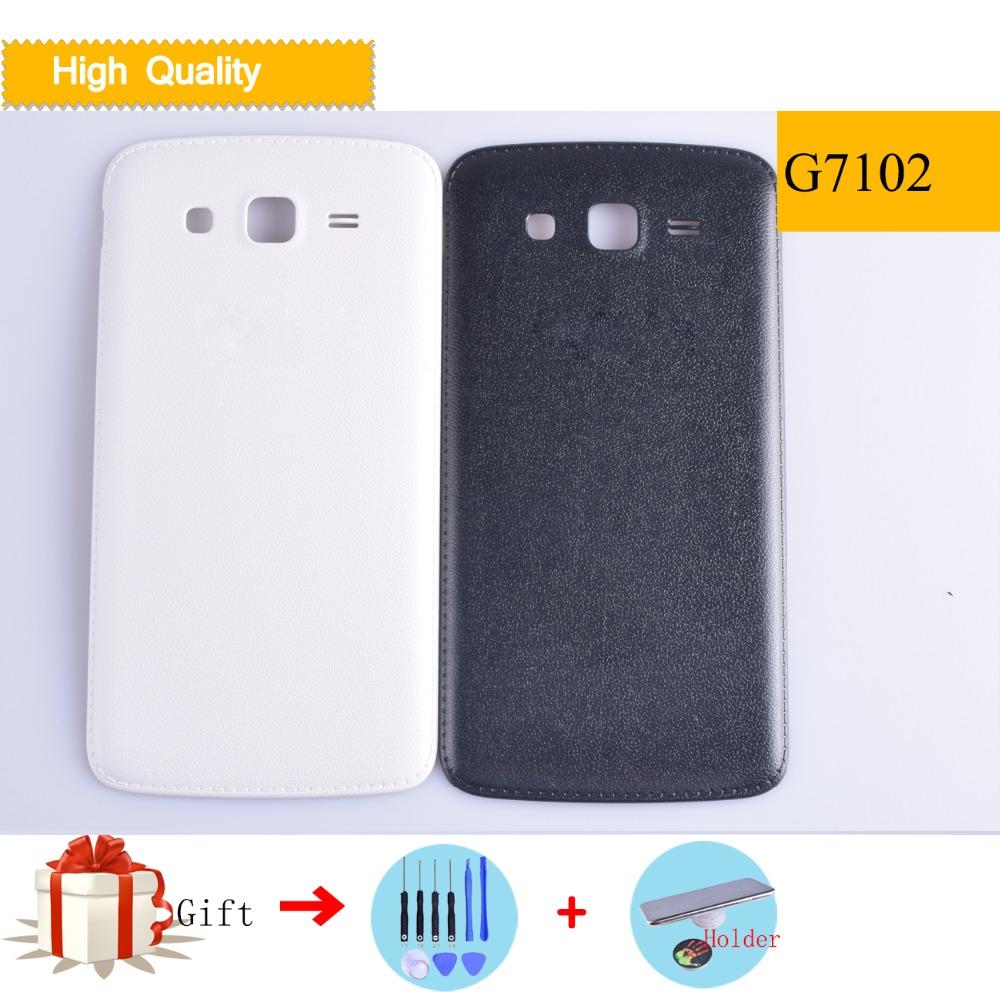 For <font><b>Samsung</b></font> Galaxy <font><b>Grand</b></font> <font><b>2</b></font> Duos <font><b>G7102</b></font> G7106 G7105 Housing Battery Cover Back Cover <font><b>Case</b></font> Rear Door Chassis Shell Replacement image