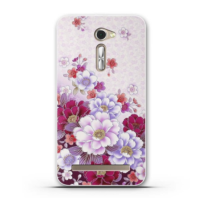 """For Asus Zenfone 2 ZE500CL 2E Z00D Zenfone2 5.0"""" Flower Pattern Phone Case For Asus Phone Back Cover 5.0 inch Coque Bag"""