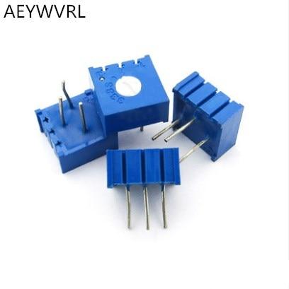 Frete grátis 100 pcs 3386P-1-503 P503 50 k potenciômetro de precisão resistência ajustável horizontal