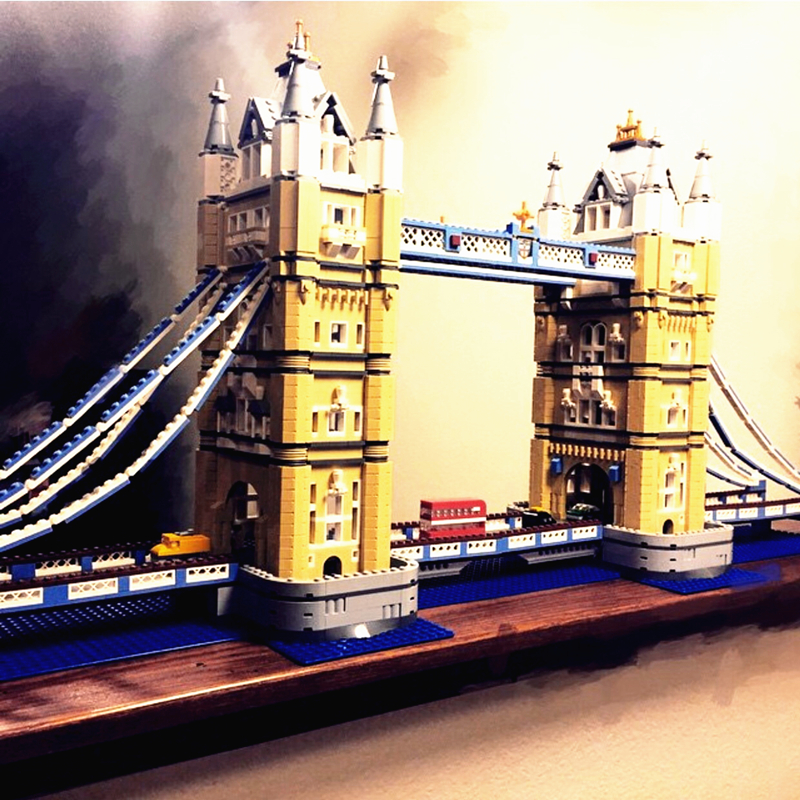 цены  Lepin 17004 Tower Bridge building bricks blocks Toys for children boys Game Model Gift Compatible with Bela Decool 10214