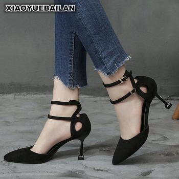 4483d732 Zapatos de dama de honor de tacón alto negros de tacón Delgado sandalias de  novia,