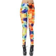 New Custom Design Leggins Rushed Knit Colorful 3d Digital Legins Printed Women Leggings Woman Pants