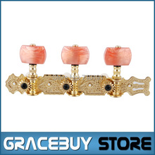Alice AO-020B2P Gold-Plated 3 Machine Head (Long) Classical Guitar String Tuning Keys Pegs New