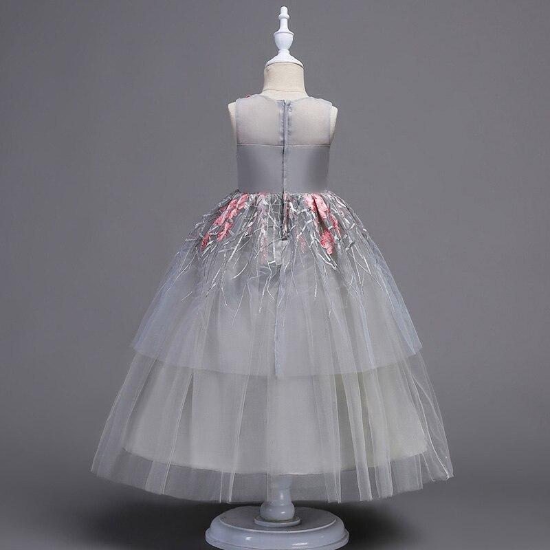 2019 mode été fille robe élégante broderie Tutu princesse presse pour enfant filles fête robe de mariée vêtements - 5